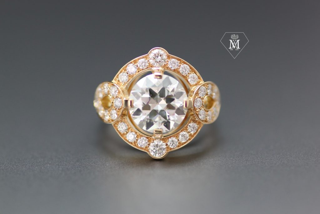 Bague de fiançailles diamants et or jaune by l'Atelier MÄHLER