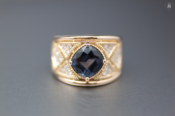spinelle diamants et or jaune